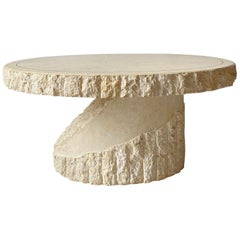 Stone Coffee Table Style of Maitland Smith