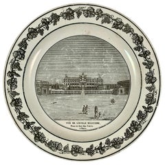 Stone, Coquerel et Le Gros French Creamware Neoclassical Architecture Plate