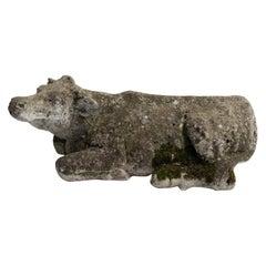 Stone Cow Sculpture
