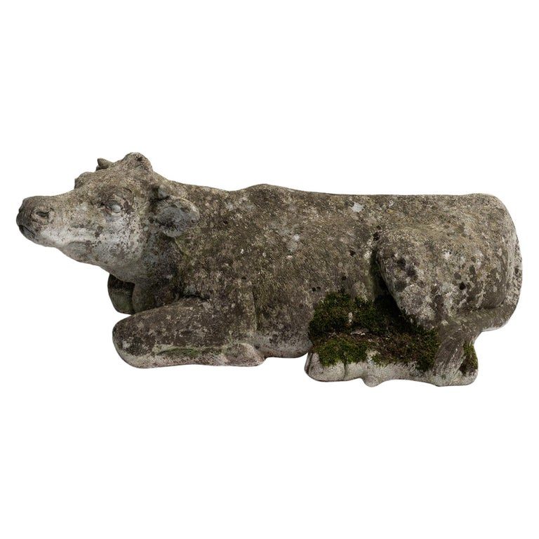 Stone Cow Sculpture For Sale