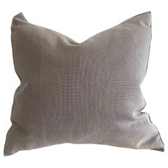 Stone Gray Belgian Linen Accent Pillow