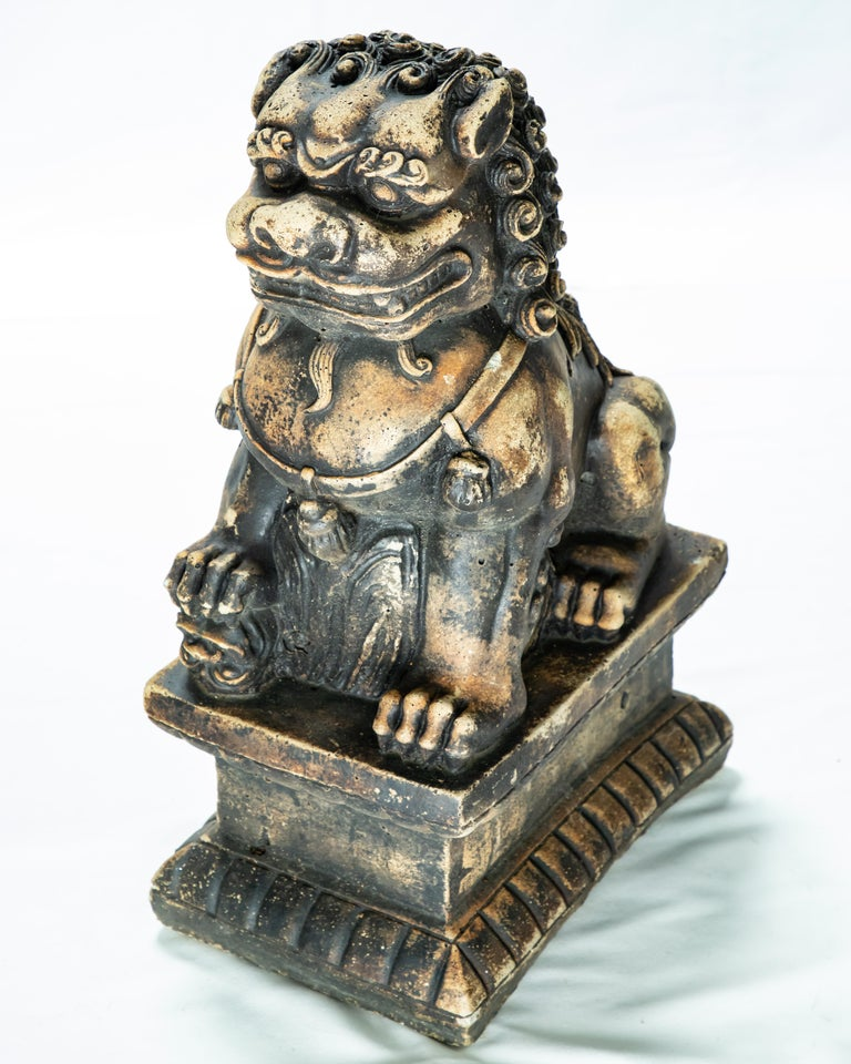 Chinese Export Stone Guardian Foo Lions For Sale