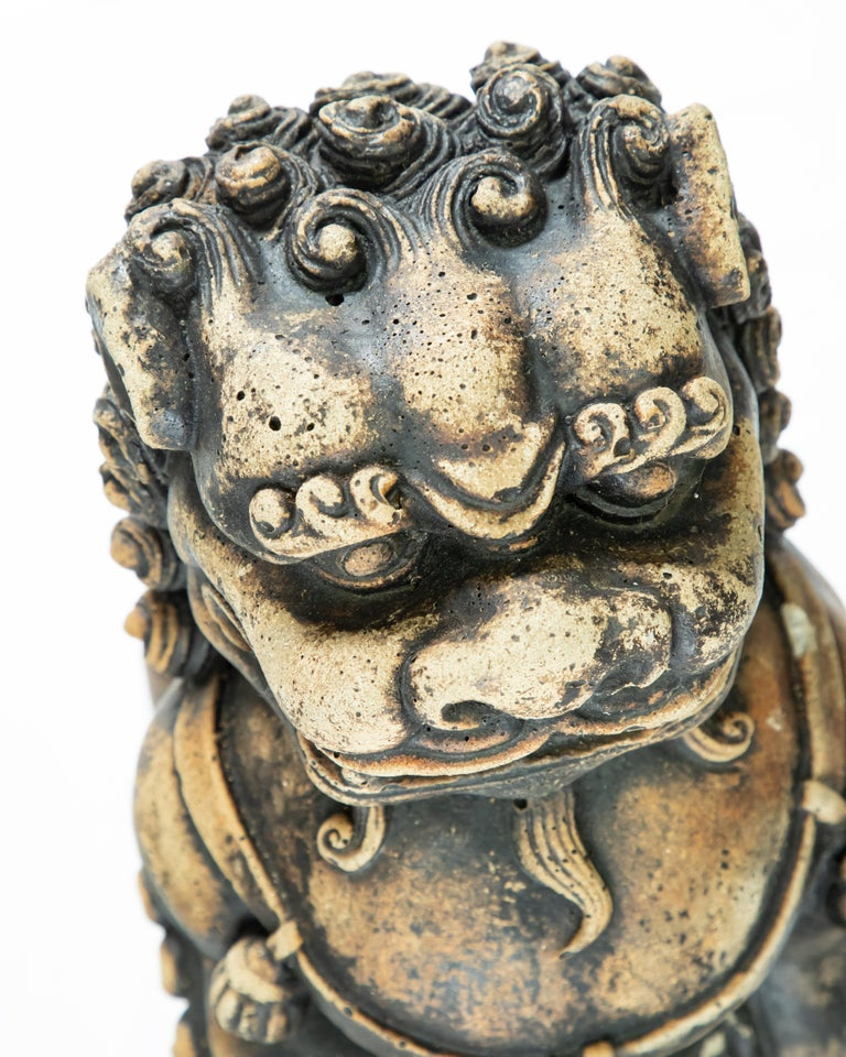 Cast Stone Stone Guardian Foo Lions For Sale