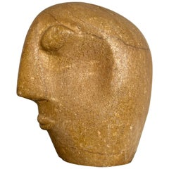 Stone Head in the Style of Picasso