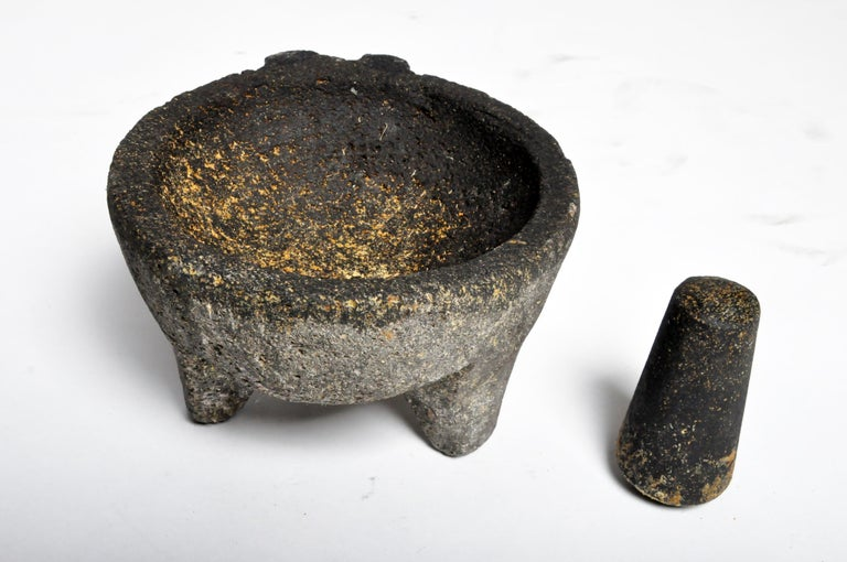 Stone Mortar with Pestle For Sale 6