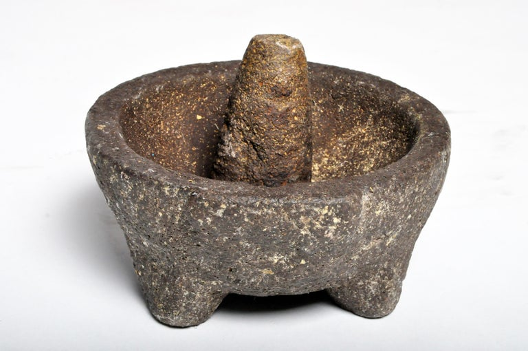 Stone Mortar with Pestle For Sale 12