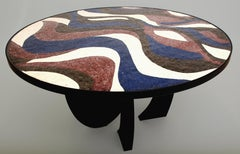 Stone Mosaic Dining or Center Hall Table