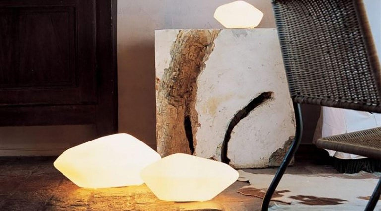 Stone of Glass Table Lamp by Marta Laudani & Marco Romanelli for Oluce In New Condition For Sale In New York, NY
