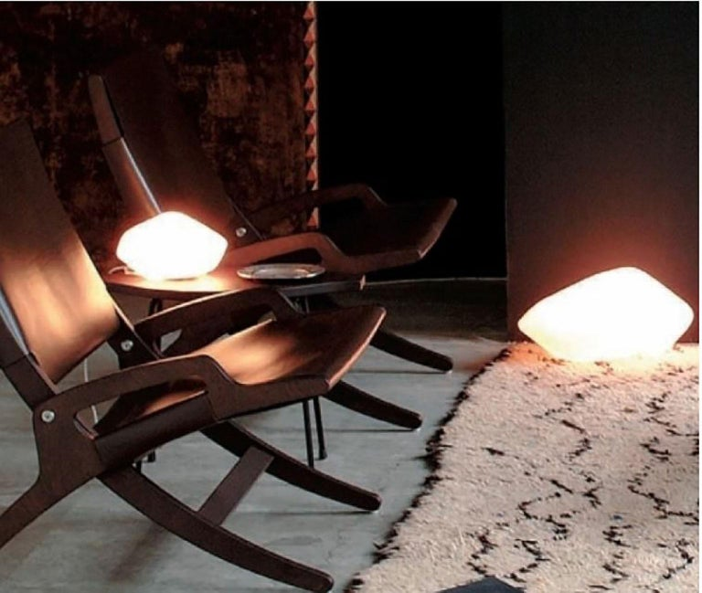 Contemporary Stone of Glass Table Lamp by Marta Laudani & Marco Romanelli for Oluce For Sale