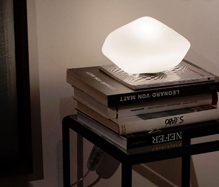 Blown Glass Stone of Glass Table Lamp by Marta Laudani & Marco Romanelli for Oluce For Sale