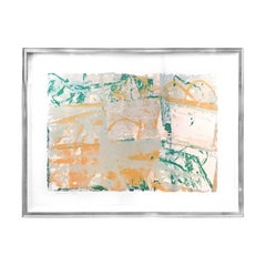 """Stone Pond"" Abstract Silkscreen by Walter Darby Bannard"