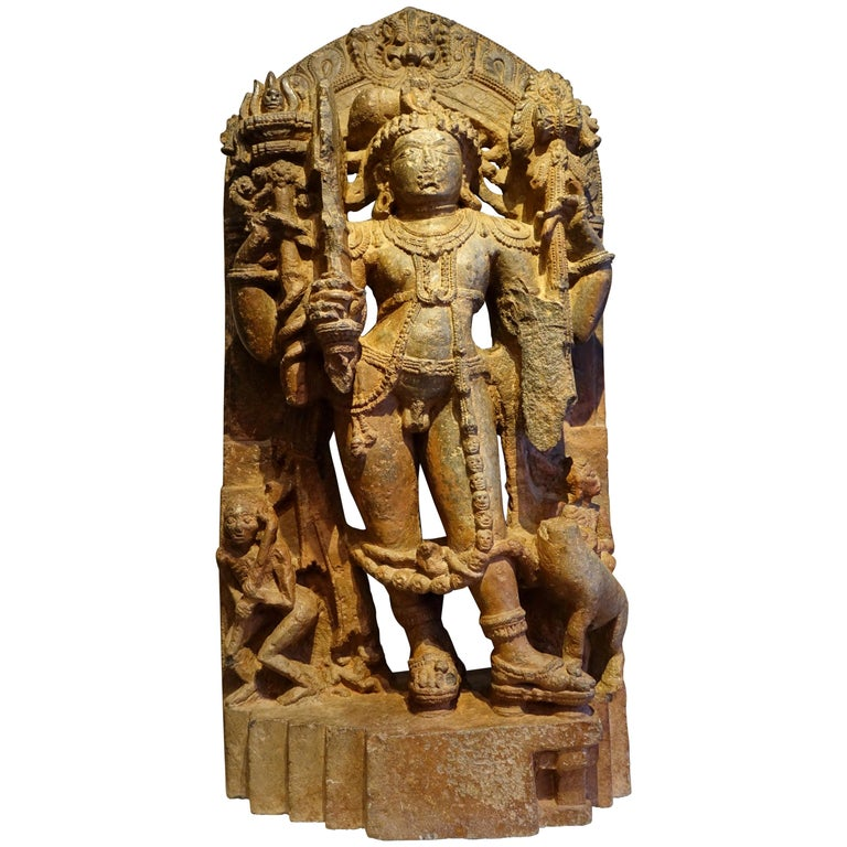 """Stone Sculpture Representing the God Shiva"", South India, 13th Century For Sale"