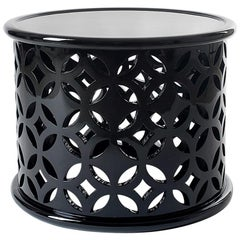 Stone Side Table in Black Lacquer Gloss