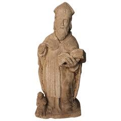 Stone Statue Representing A Bishop or A Saint XVII