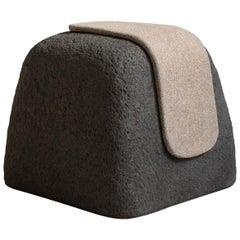 Stone Stool Contemporary Stool in Ceramic by MYK Studio