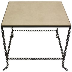 Stone Topped Chain Link Table
