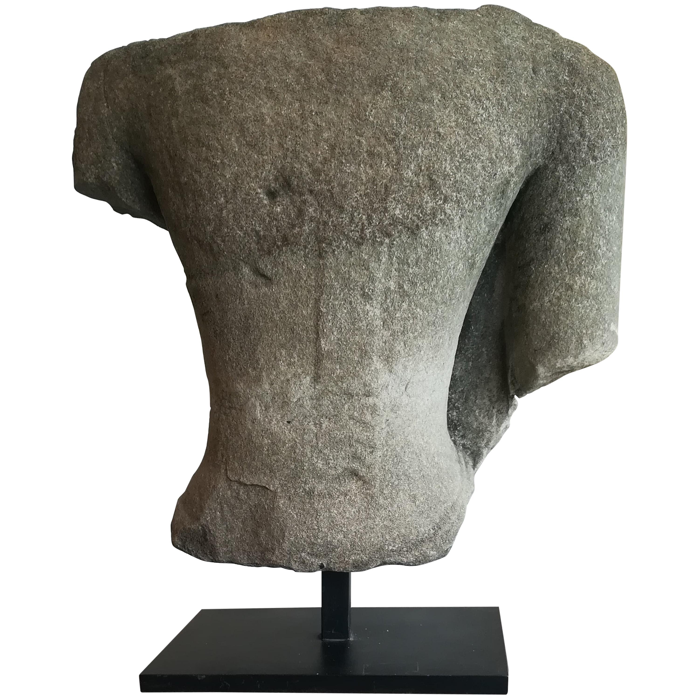 Stone Torso 14th-15th Century, Thailand or Laos