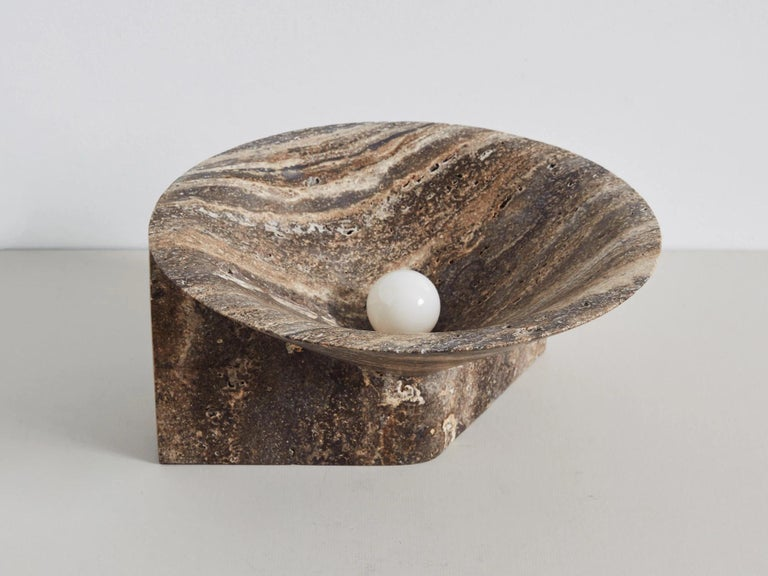 Contemporary Stone Uplight by Henry Wilson For Sale
