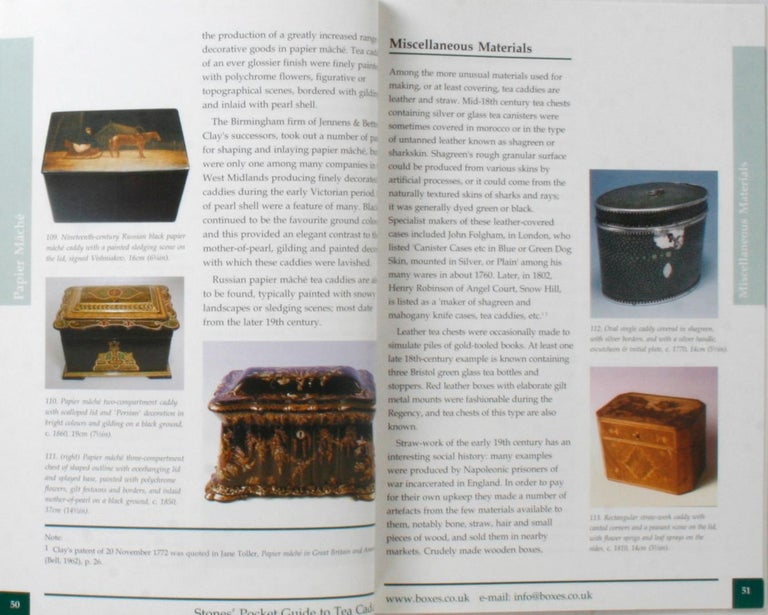 Stones' Pocket Guide to Tea Caddies by Noël Riley For Sale 6