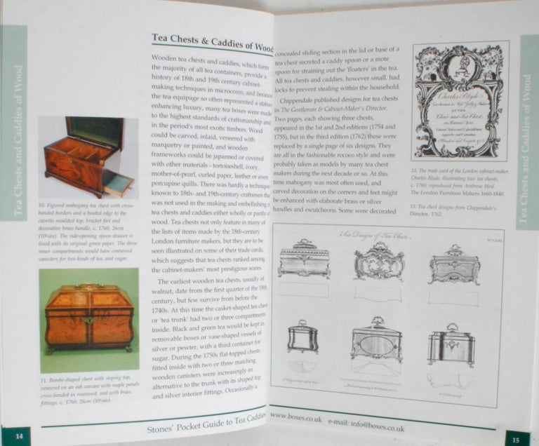 Stones' Pocket Guide to Tea Caddies by Noël Riley In Excellent Condition For Sale In valatie, NY