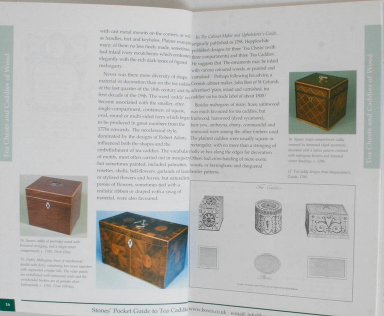 Contemporary Stones' Pocket Guide to Tea Caddies by Noël Riley For Sale