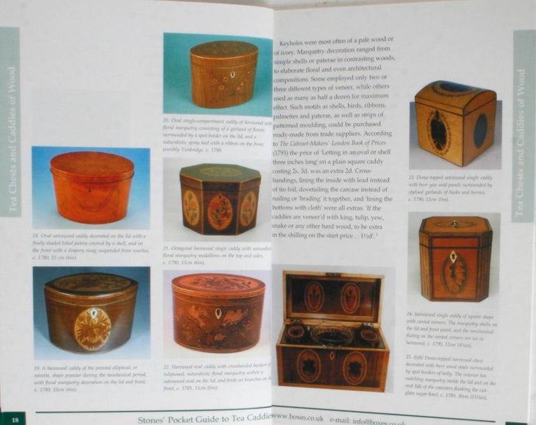 Paper Stones' Pocket Guide to Tea Caddies by Noël Riley For Sale