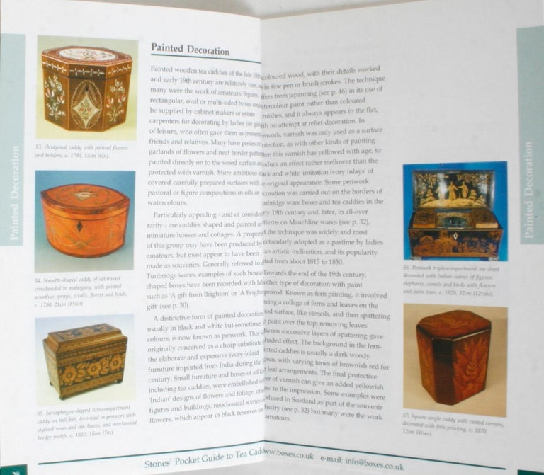 Stones' Pocket Guide to Tea Caddies by Noël Riley For Sale 3
