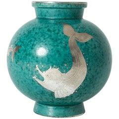 "Stoneware ""Argenta"" Vase by Wilhelm Kåge for Gustavberg"