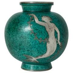 """Stoneware """"Argenta"""" Vase by Wilhelm Kåge"""