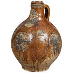 Stoneware Bellarmine or Bartmann Jug, German, Raeren, circa 1590-1600