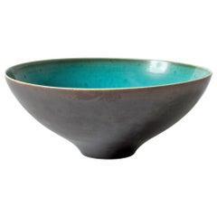 Stoneware Bowl by Friedl Holzer-Kjellberg for Arabia, Finland, 1940s