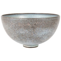 Stoneware Bowl Designed by Edwin and Mary Scheier