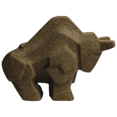 Stoneware Bull by Lars Pagfeldt in Brutalist Style, Sweden, 1960s