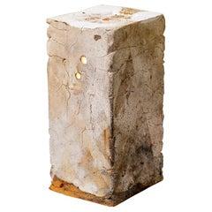 Stoneware Ceramic Brick Table Lamp Midcentury Sculpture La Borne