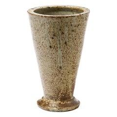 Stoneware Ceramic Conical Vase Mid-Century Modern Design from La Borne by Bernon