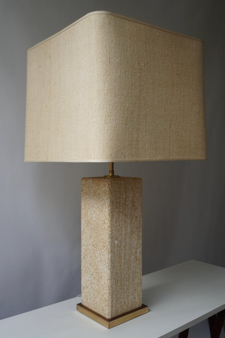 Stoneware Ceramic Italian Table Lamp For Sale 2