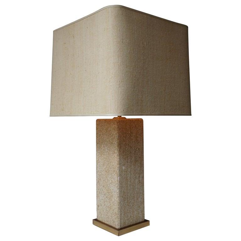 Stoneware Ceramic Italian Table Lamp For Sale