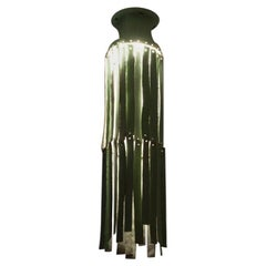 Stoneware Chandelier with Green Engobe