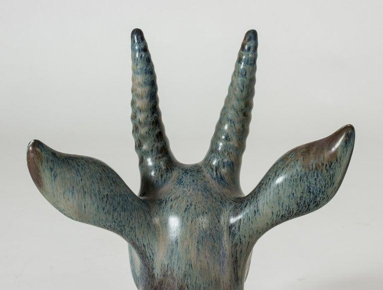 Stoneware Deer Sculpture by Gunnar Nylund For Sale 2