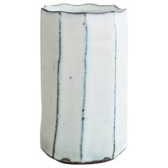 Stoneware Faceted Vase by Mats Svensson