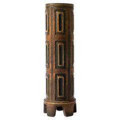 "Stoneware ""Farsta Rust"" Vase by Wilhelm Kåge for Gustavsberg, Sweden, 1940s"