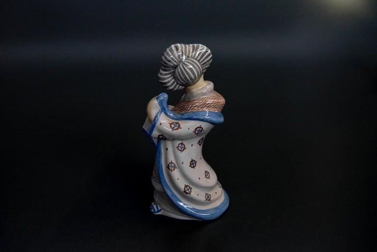 Danish Stoneware Figurine by L. Hjorth, Denmark For Sale