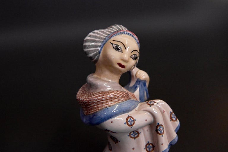 Stoneware Figurine by L. Hjorth, Denmark In Excellent Condition For Sale In Chorzów, PL