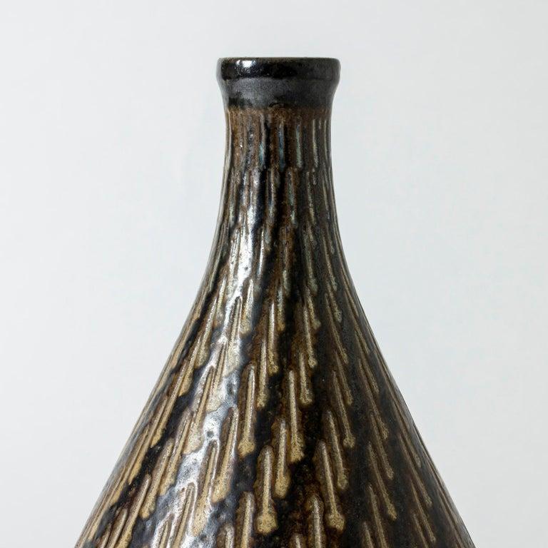 Scandinavian Modern Stoneware Floor Vase from Vallåkra, Sweden, 1950s For Sale
