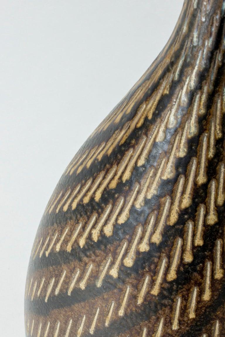 Swedish Stoneware Floor Vase from Vallåkra, Sweden, 1950s For Sale