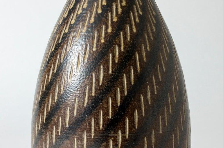 Stoneware Floor Vase from Vallåkra, Sweden, 1950s In Good Condition For Sale In Stockholm, SE