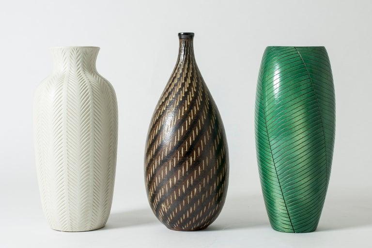 Ceramic Stoneware Floor Vase from Vallåkra, Sweden, 1950s For Sale