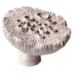 Stoneware Lotus Pod by Jan Ernst