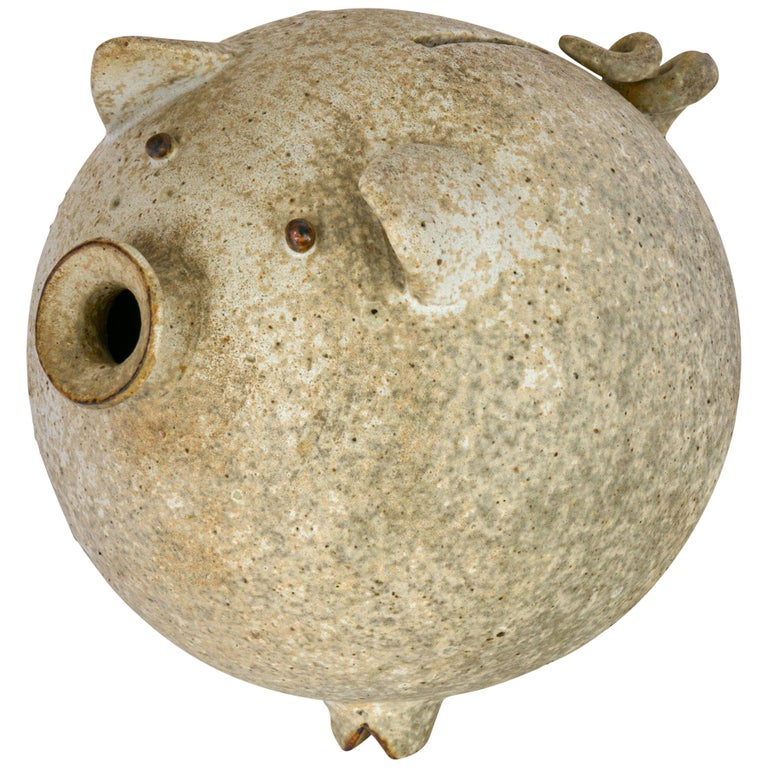 Stoneware Piggy Bank by Aase, Denmark, 1960s