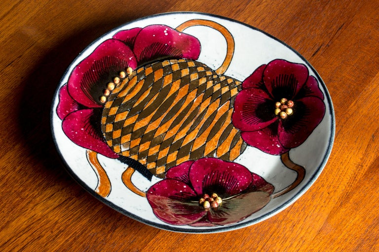 Stoneware Platter by Birger Kaipiainen for Arabia, Finland, 1960s For Sale 1
